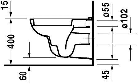 WC skoljka Duravit D code viseca 3