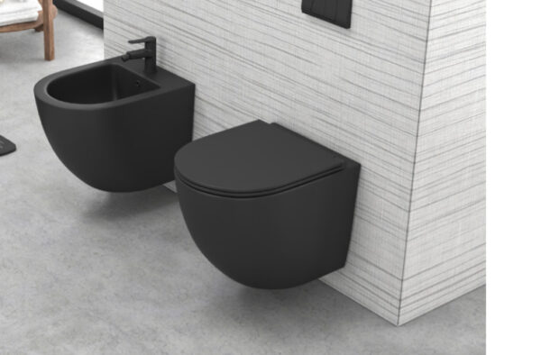 WC skoljka LT 046 crna rimless 1