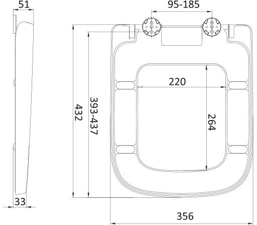 WC deska Voxort Diagonal 1